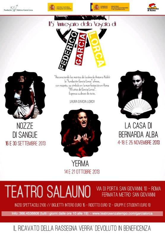 115 anni di Federico Garcia Lorca - Locandina