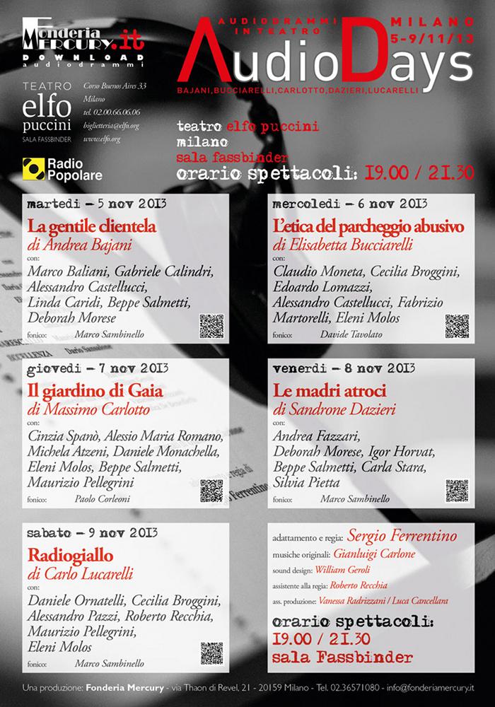 Milano AudioDays - manifesto