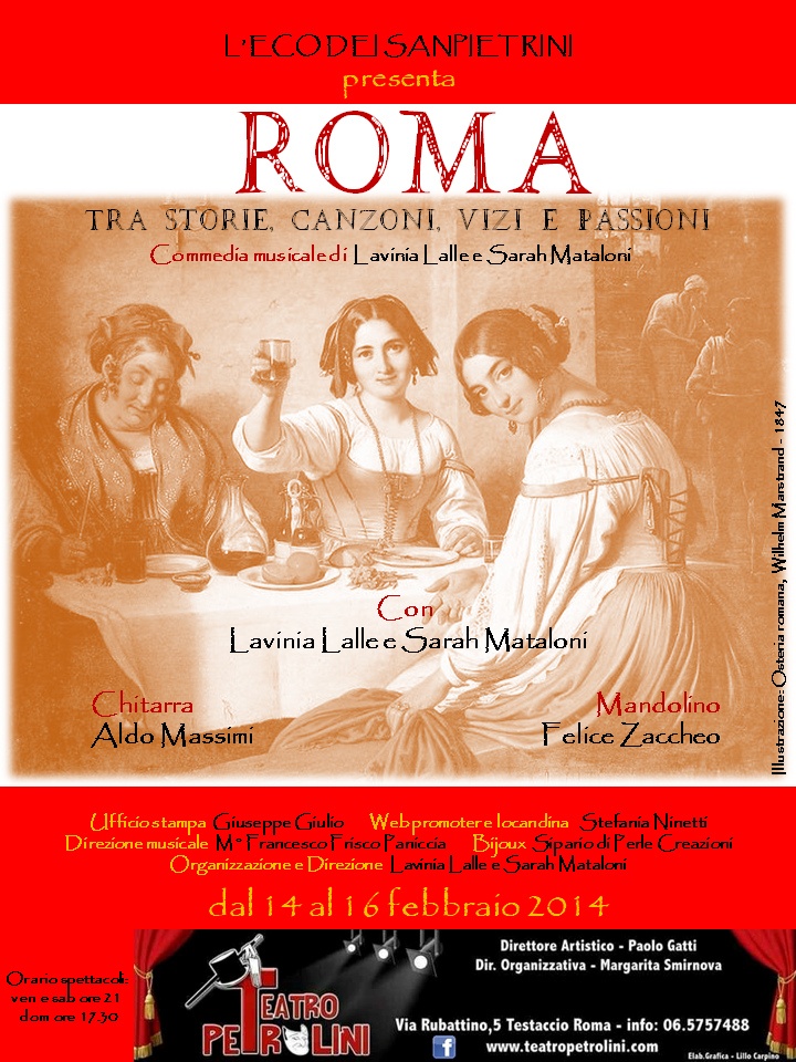 Roma: tra storie, canzoni, vizi e passioni al Teatro Petrolini_locandina