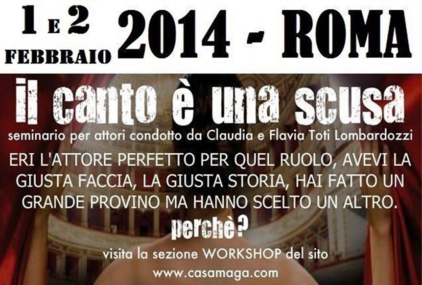 canto e' una scusa - seminario a Roma