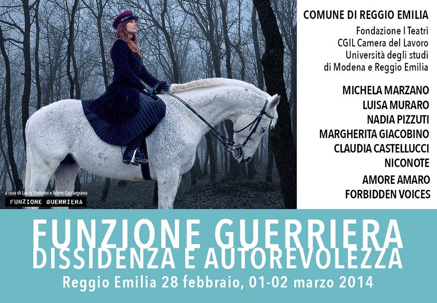 Funzione Guerriera - la rassegna al via a Reggio Emilia