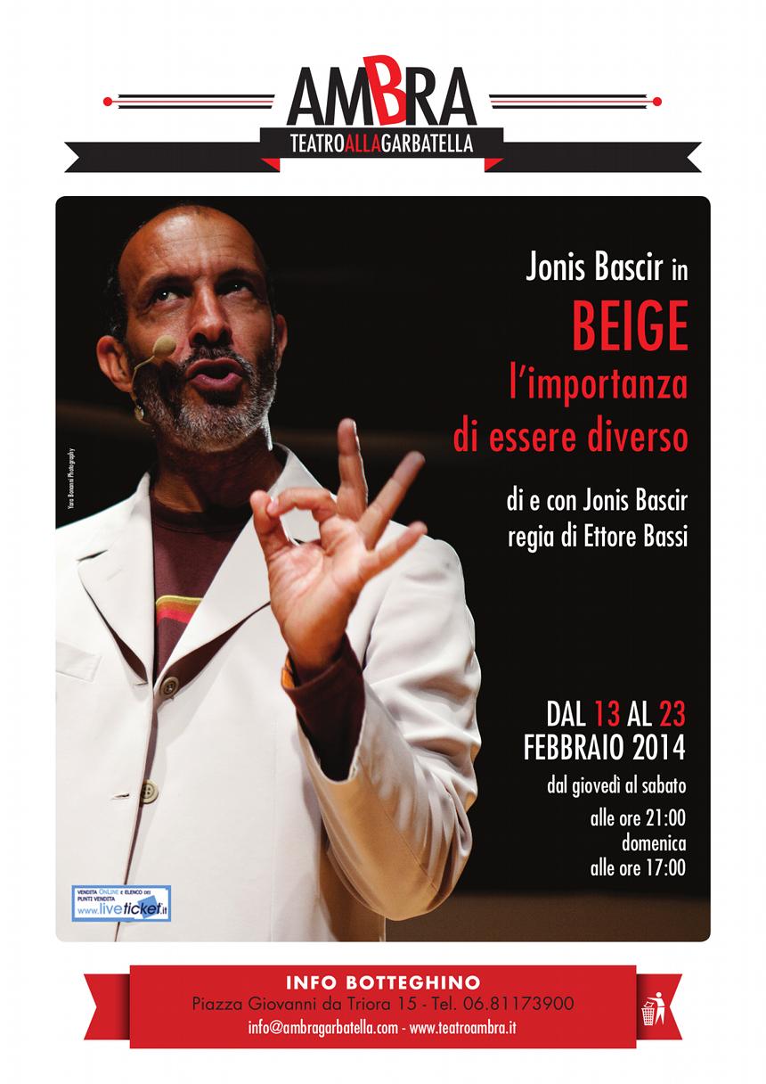 Jonis Bascir @ Garbatella di Roma -Beige_Locandina