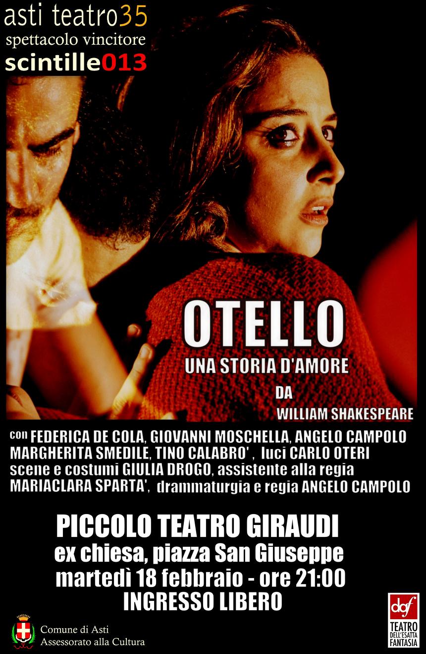 Otello debutta al Piccolo Teatro Giraudi di Asti_locandina