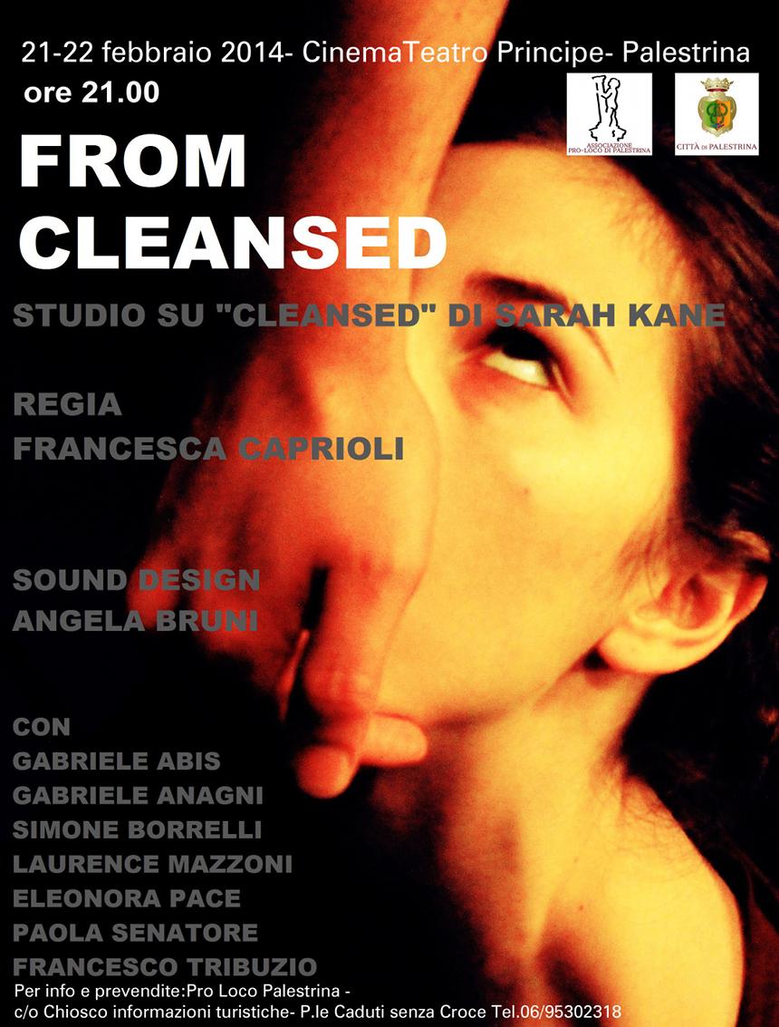 Teatro Principe Palestrina di Roma: rassegna di teatro sperimentale_ locandina Cleansed