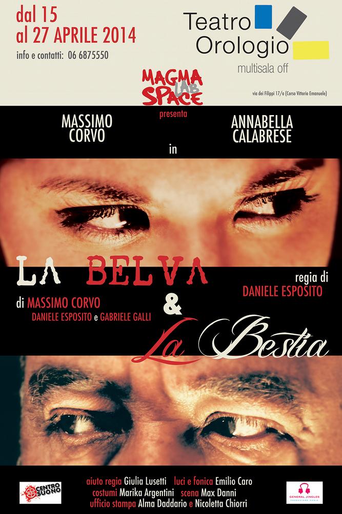 Belva e Bestia_ Teatro Orologio Roma_locandina