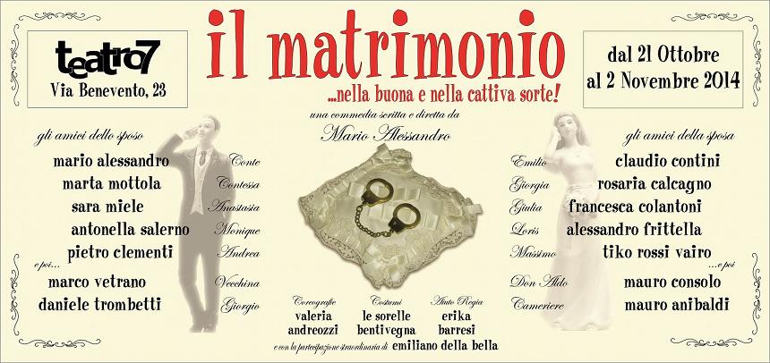 Il matrimonio … nella buona e nella cattiva sorte_Compagnia dell'Anello Roma
