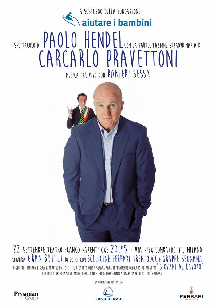 Paolo Hendel per aiutare i bambini @Franco Parenti Milano