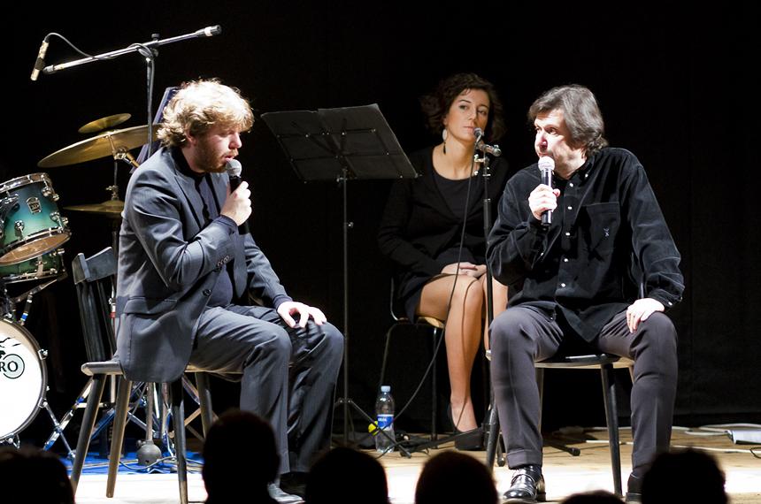 Teatro Delfino_Gaber - Jannacci noi due stupidi_Federico Zanandrea e Luca Sandri_in scena_2