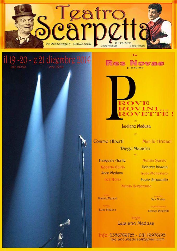 Prove Provini e… Provette_Luciano Medusa_Teatro Scarpetta_locandina