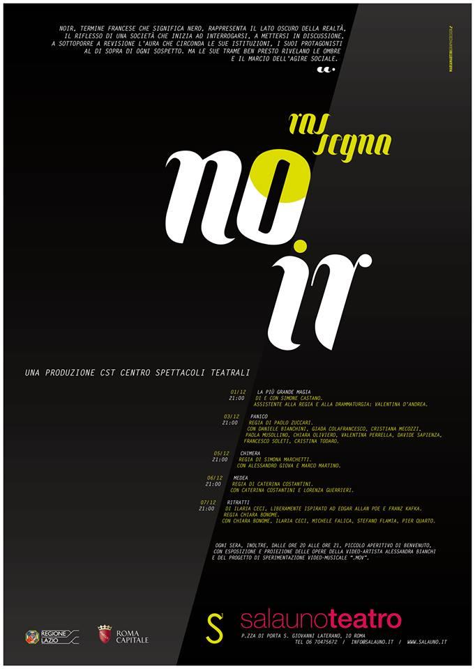 Rassegna teatrale Noir_ Salauno teatro Roma