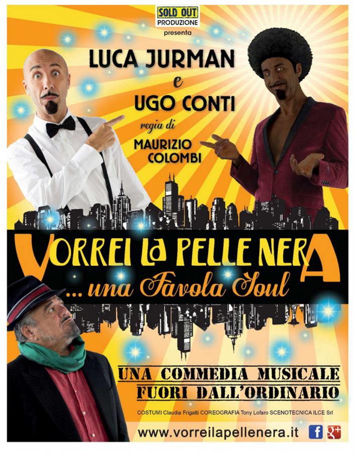 Vorrei la pelle nera_Luca Jurman a Milano_Locandina