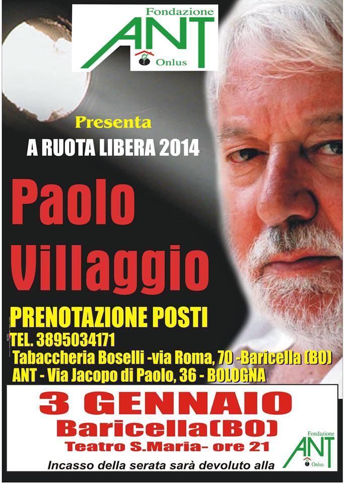 paolo villaggio a ruota libera pro ant italia onlus