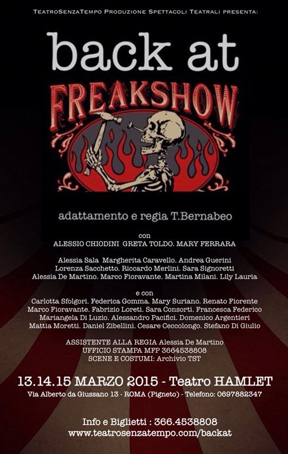 Back At Freak Show_Locandina