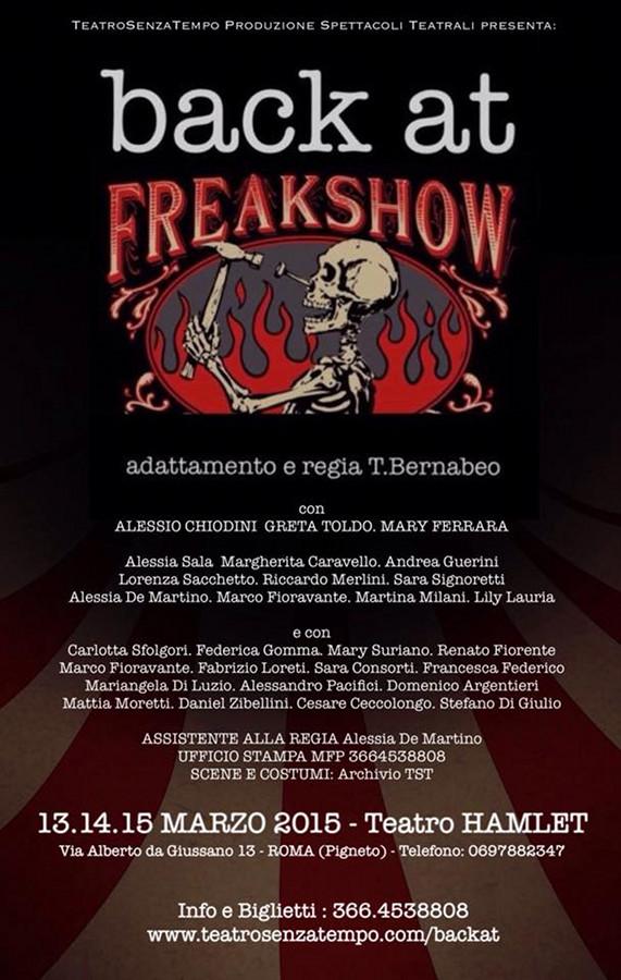 Back At Freak Show_Locandina