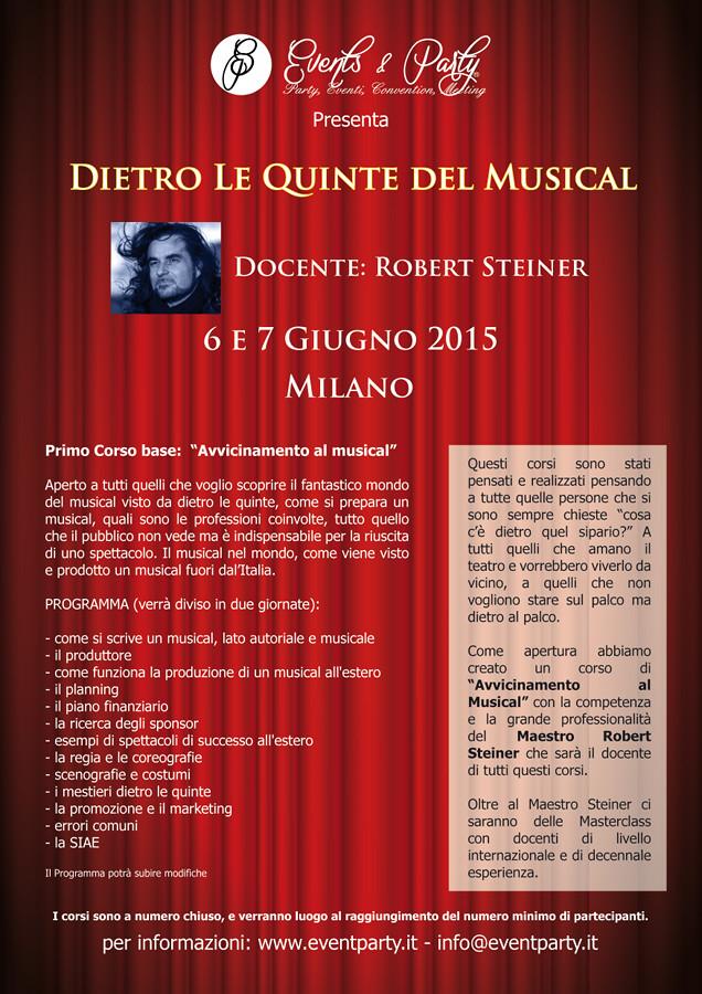 Corso Dietro le quinte del musical_Robert Steiner