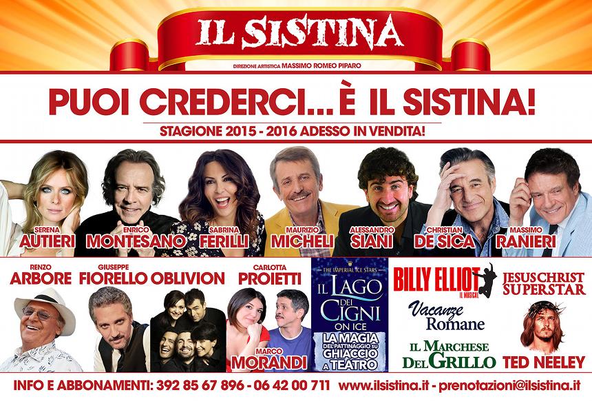 Teatro Sistina Roma 2015-2016_cartellone