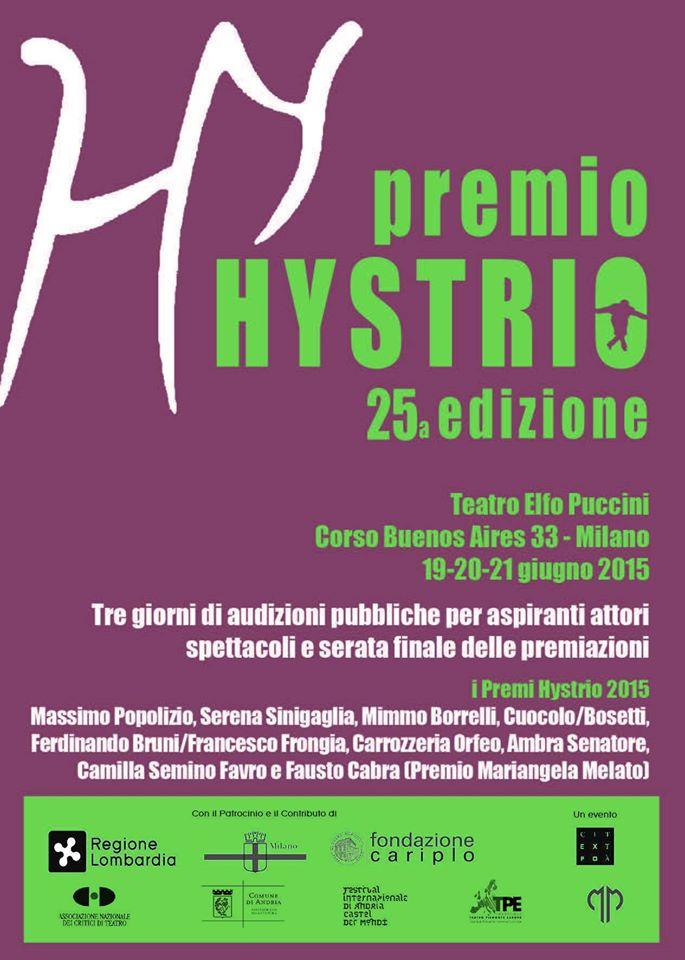 Premio Hystrio 2015