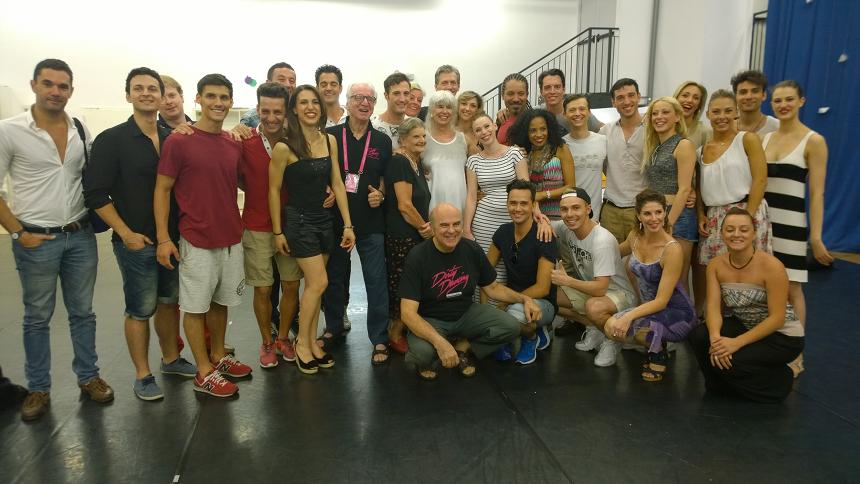 Dirty Dancing a Milano_foto gruppo con autrice