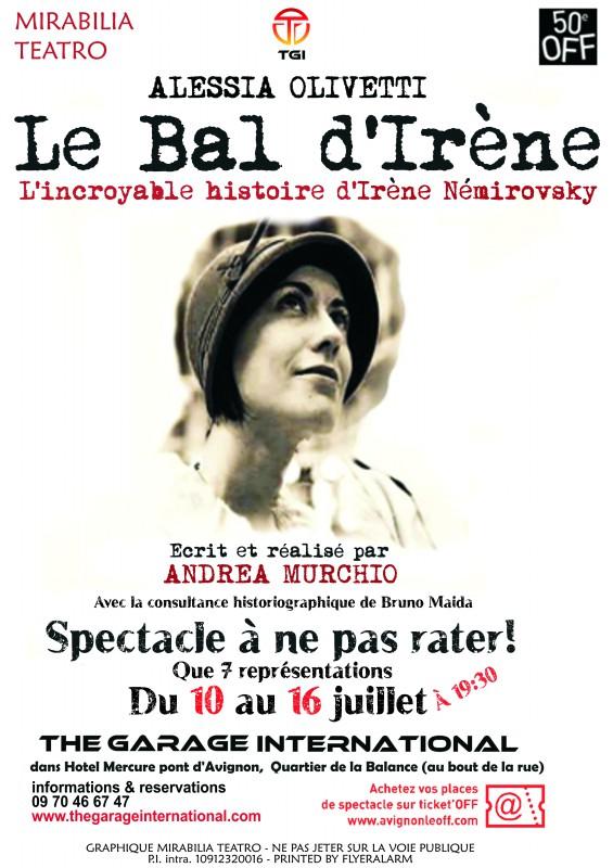 Le bal di Irene_Il Ballo di Irene_Festival di Avignon Off 2015