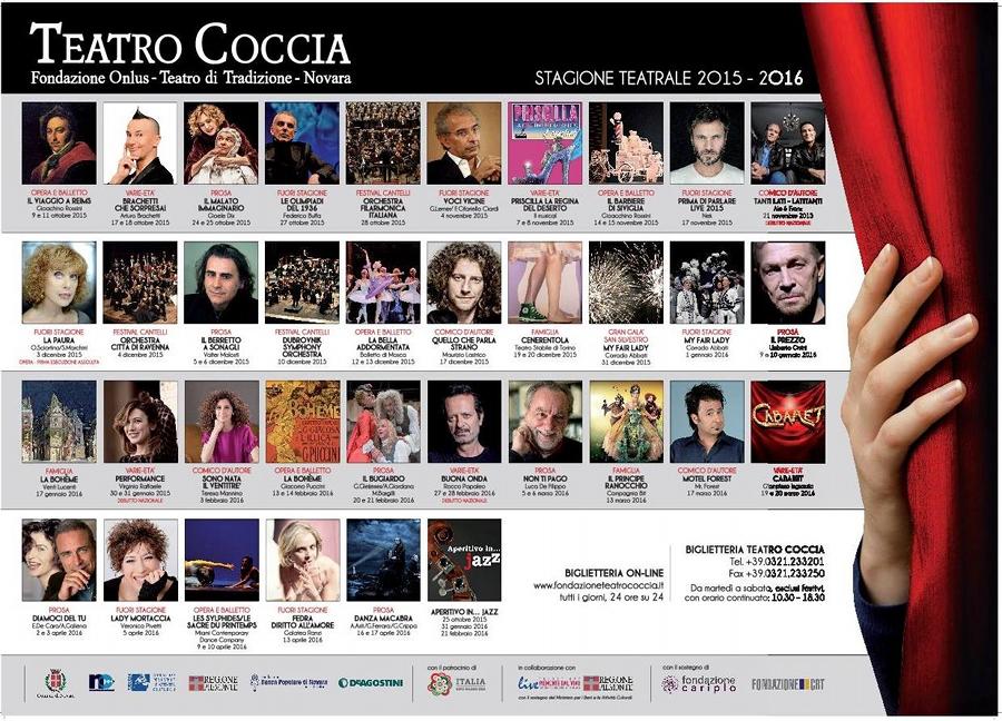 Teatro Coccia Novara 2015 - 2016