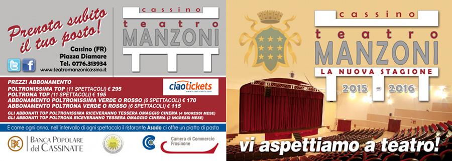 Cartellone_Teatro Manzoni 2015 2016 di Cassino