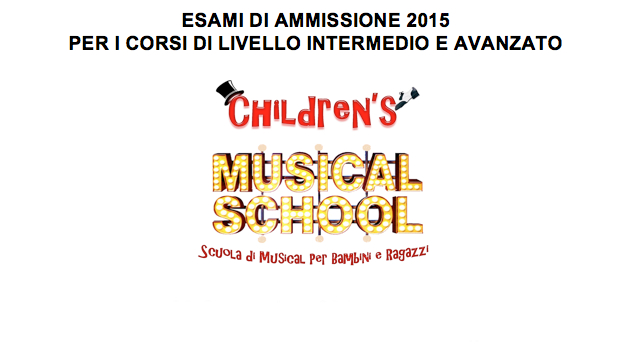 Children's Musical School_corsi 2015 - 2016