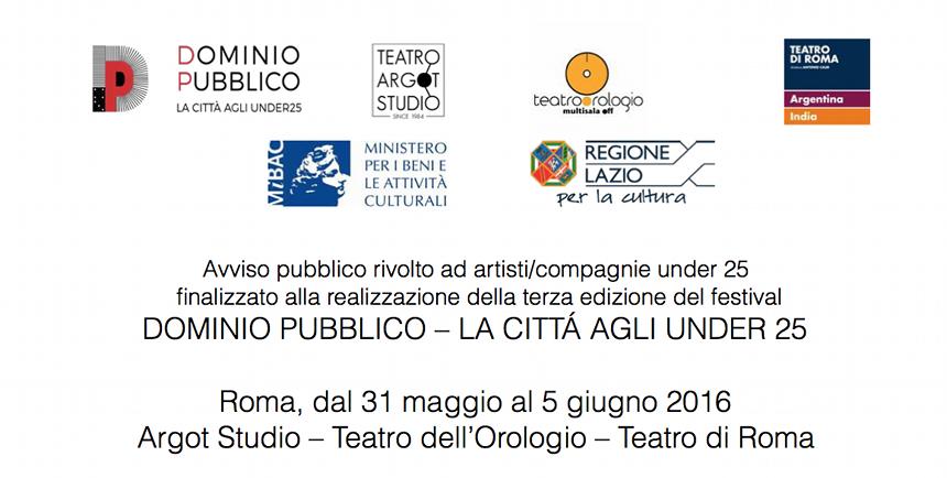 Bando per DOMINIO PUBBLICO - La citta' agli under 25 - 3a edizione