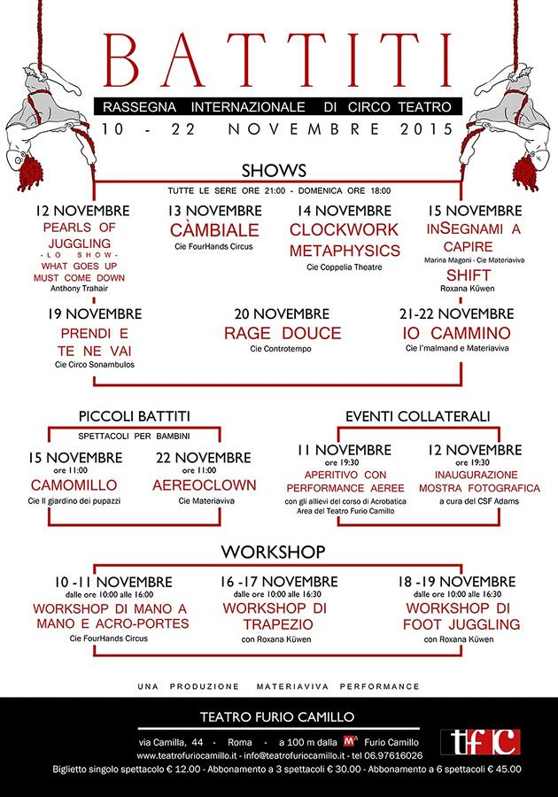 Battiti 2015_Furio Camillo Roma_Programma