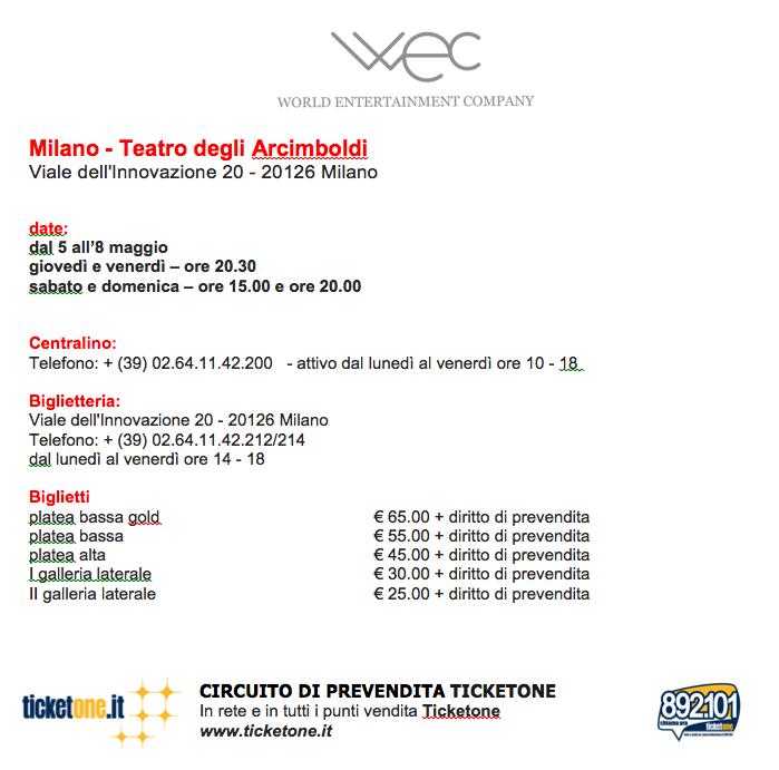 Sleeping Beauty Milano Arcimboldi prezzo biglietto e date