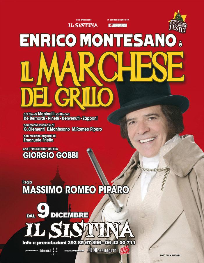 il Marchese del Grillo_Enrico Montesano_LOCANDINA