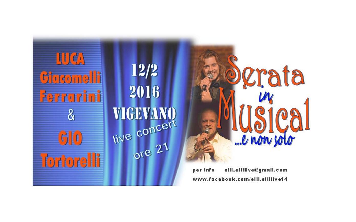 Serata in Musical con Luca Giacomelli Ferrarini e Gio Tortorelli tag