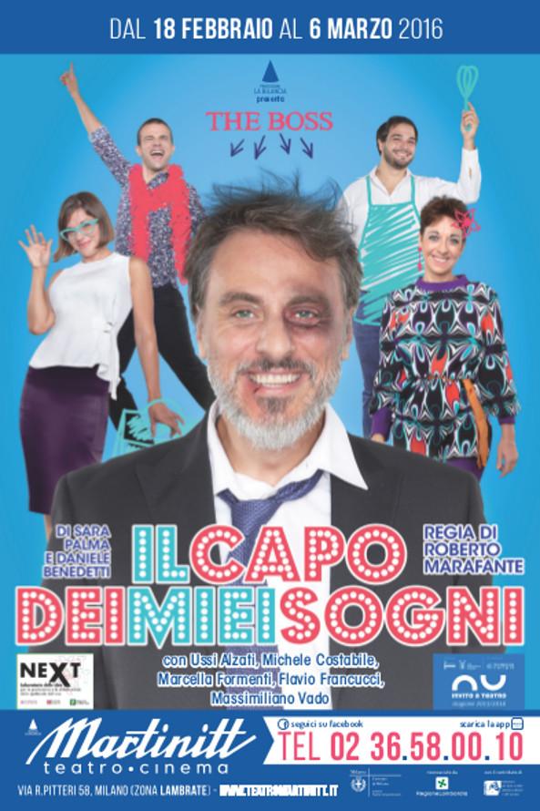 Teatro Martinitt la brillante commedia Il capo dei miei sogni