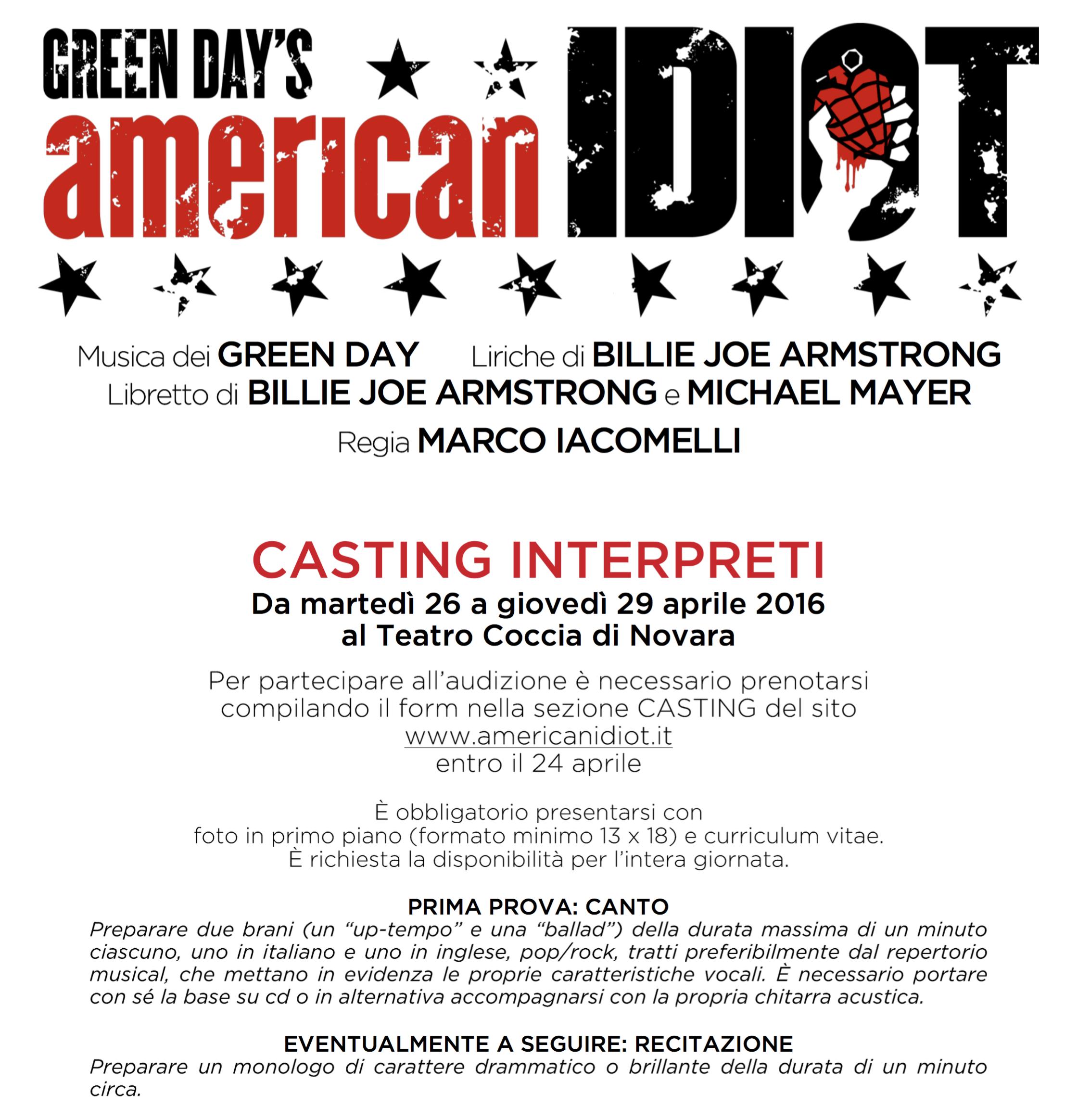Casting American Idiot di STM - interpreti pg1