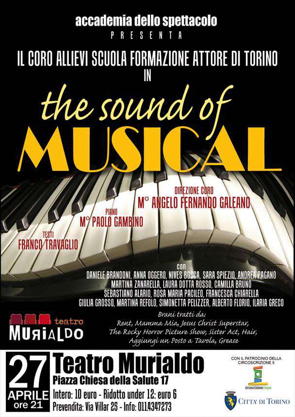 Con gli allievi di SFA concerto The Sound of Musical a Torino