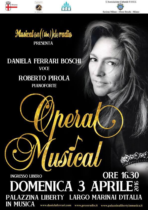 Domenica 3 aprile OPERAL Musical alla Palazzina Liberty di Milano