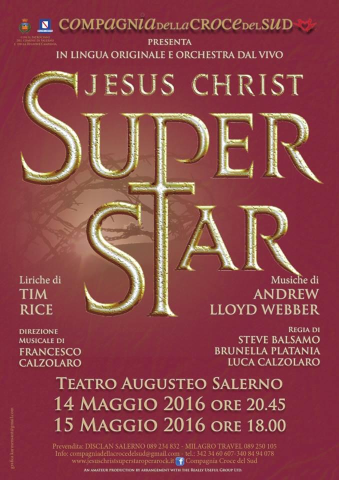 Locandina compagnia della croce del sud jesus christ superstar