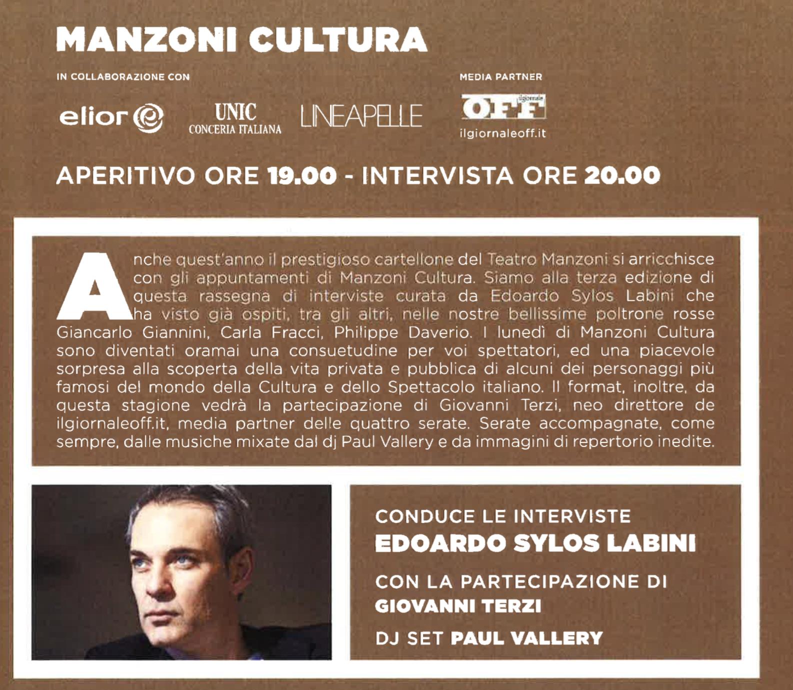 Teatro Manzoni 2016 2017 manzony fcultura 2016 - 2017
