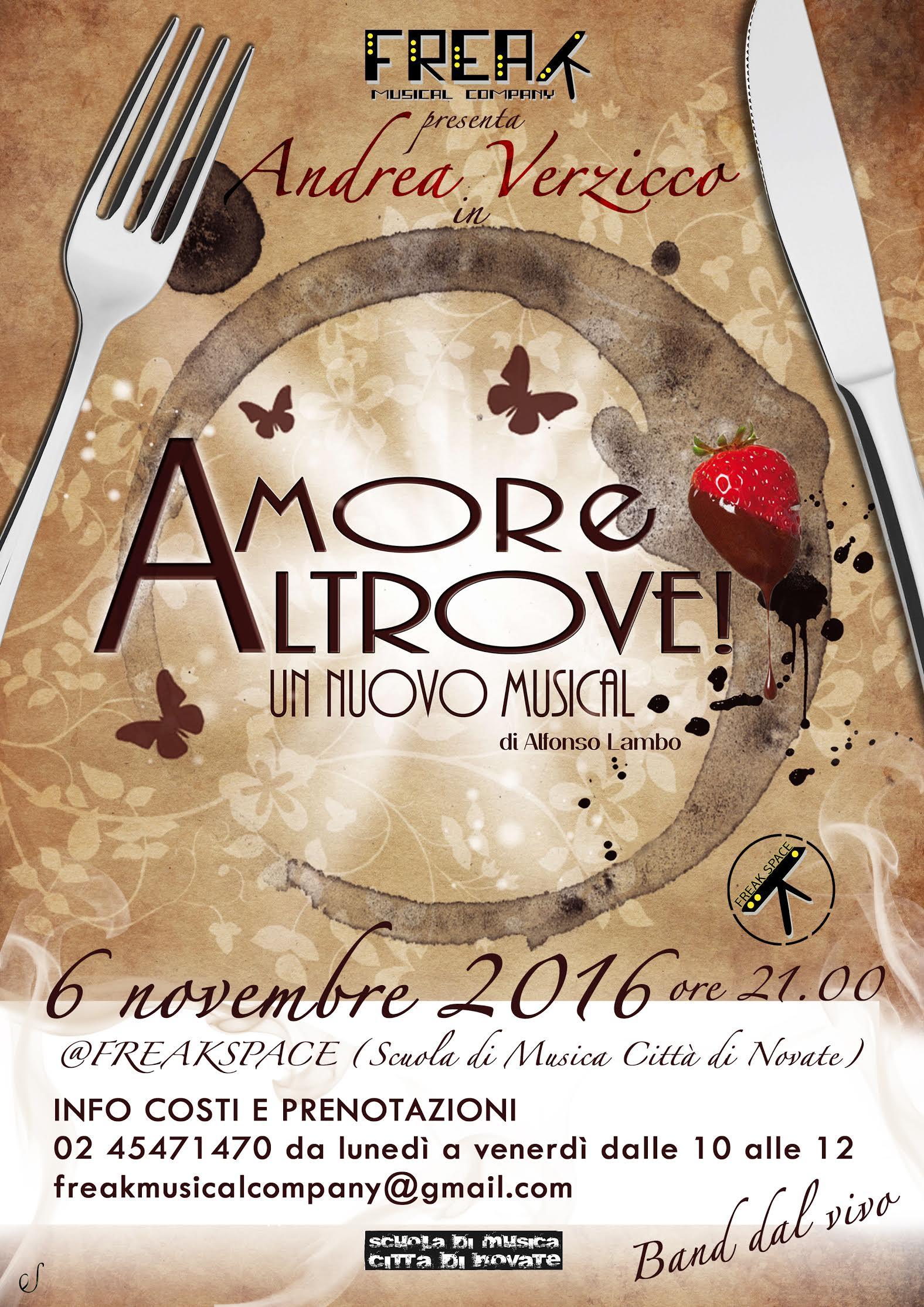 Amore Altrove musical Alfonso Lambo - Andrea Verzicco