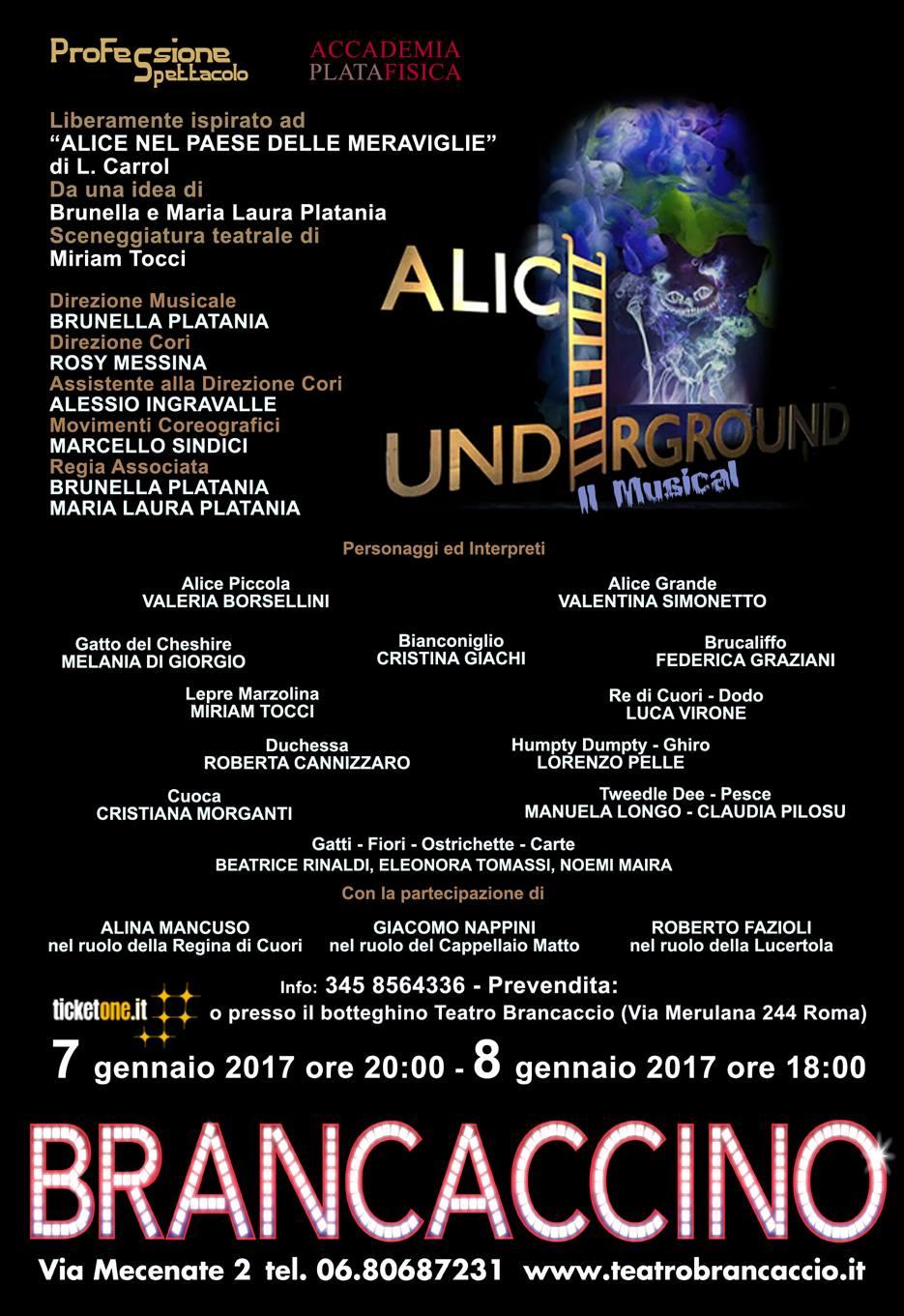 Alice Underground a gennaio a Roma con Accademia Platafisica