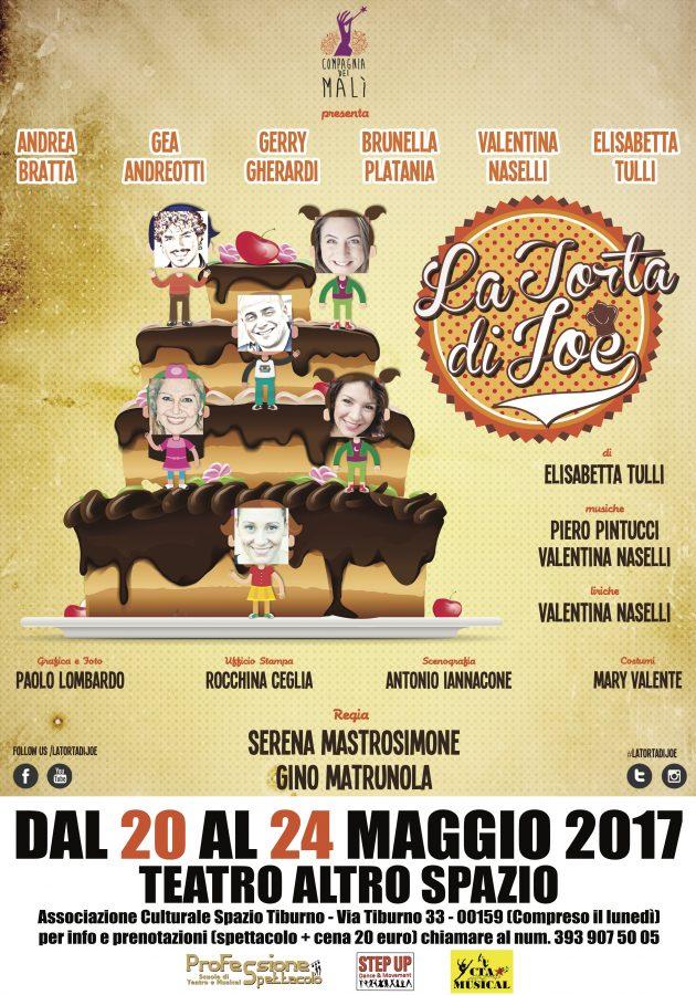 La Torta di Joe: torna a Roma lo spettacolo scritto da Elisabetta Tulli