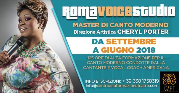 Cheryl Porter direttrice artistica di Roma Voice Studio, nuovo progetto canto moderno