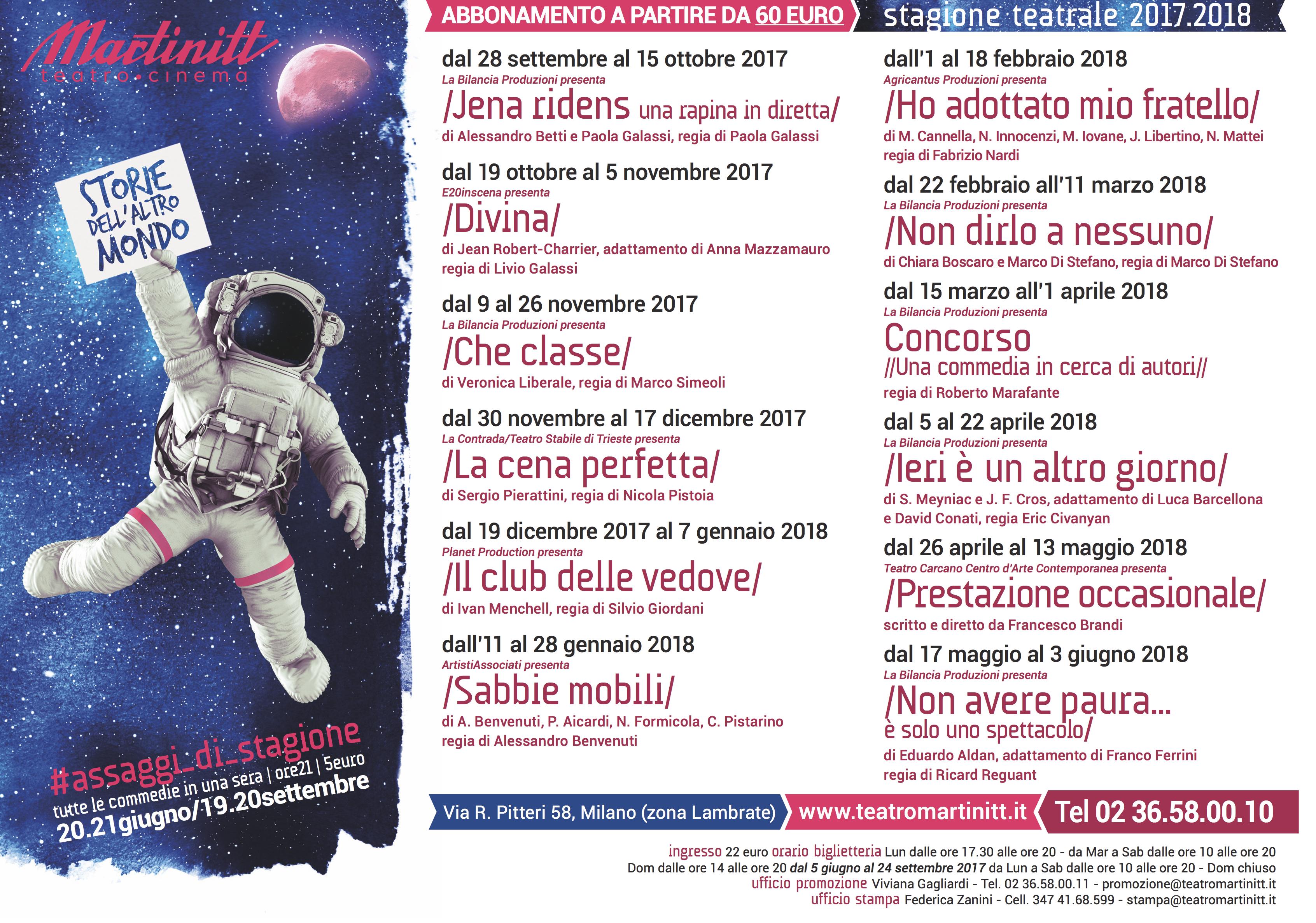 Teatro Martinitt 2017-2018 grandi nomi tra risate e quotidianita'