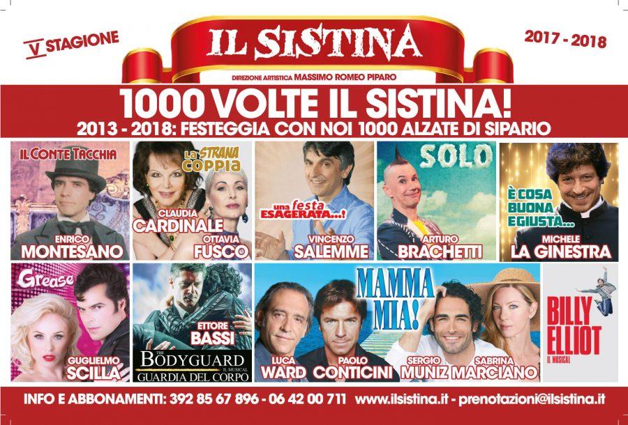 Teatro Sistina 2017–2018 la stagione stagione