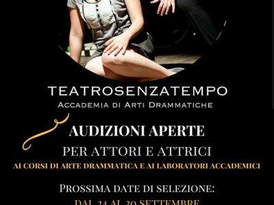 A settembre corsi accademici 2017 di TeatroSenzaTempo