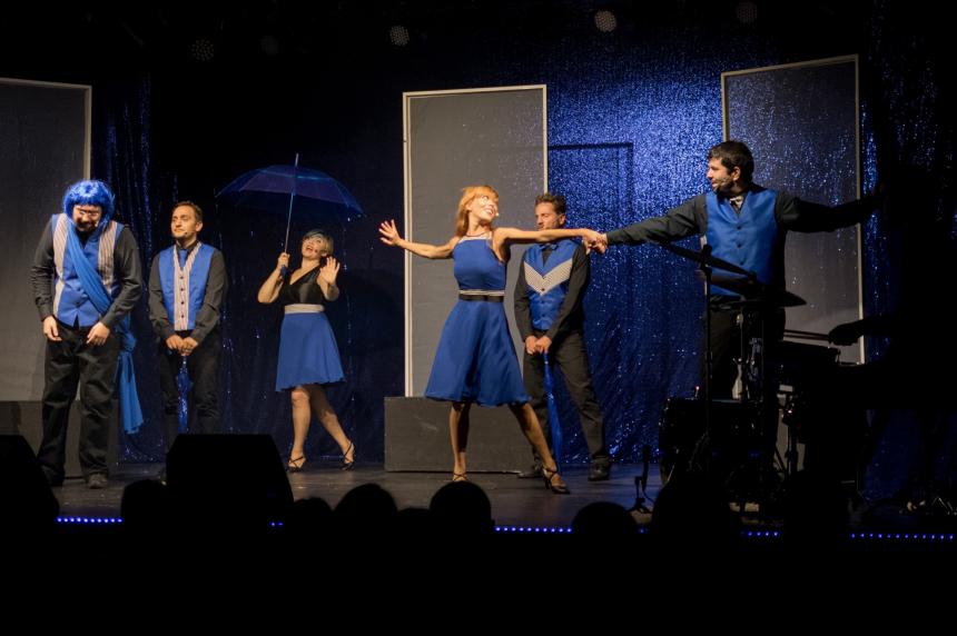 B.L.U.E Il Musical completamente improvvisato i Bugiardin-cast