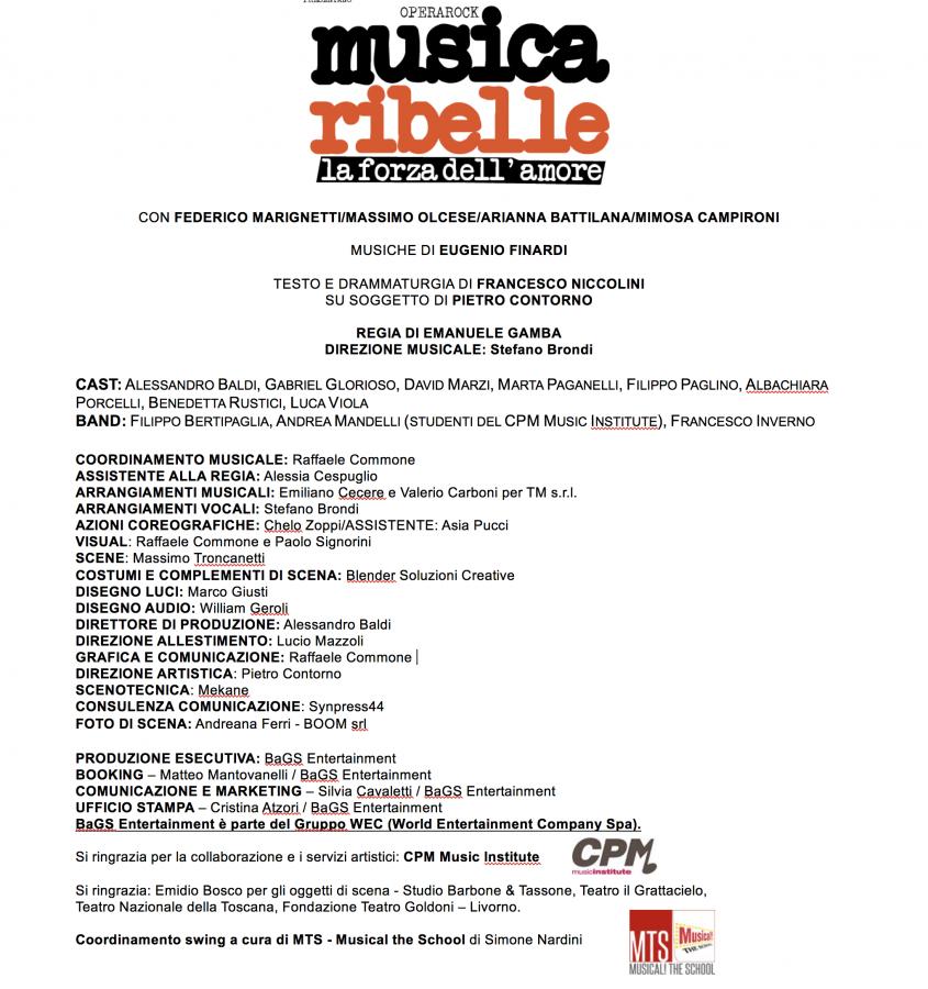 Musica Ribelle cast completo