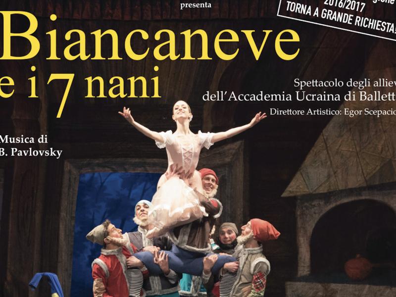 Biancaneve e i sette nani dell'Accademia Ucraina di Balletto. Agli Arcimboldi a gennaio-2
