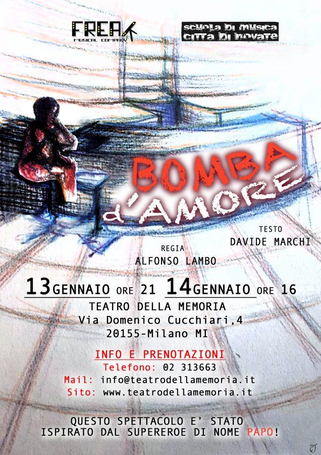 Bomba d'Amore al Teatro della Memoria di Milano per un inizio 2018 scoppiettante