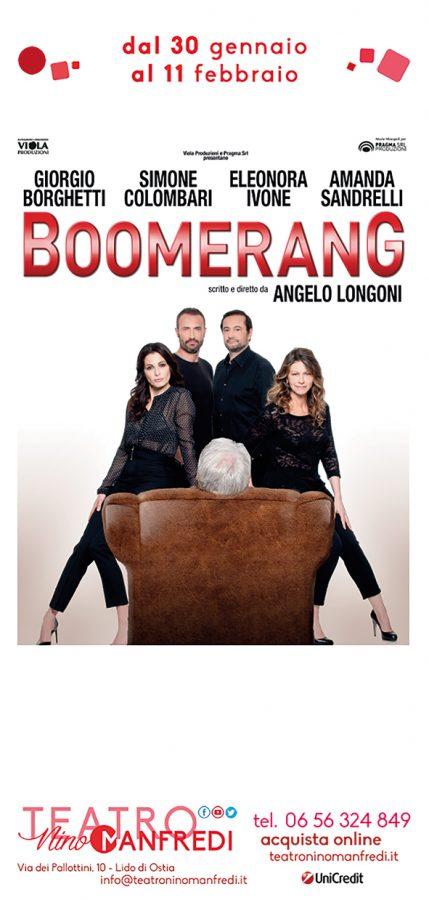 Al Teatro Manfredi di Ostia Boomerang con Giorgio Borghetti, Amanda Sandrelli