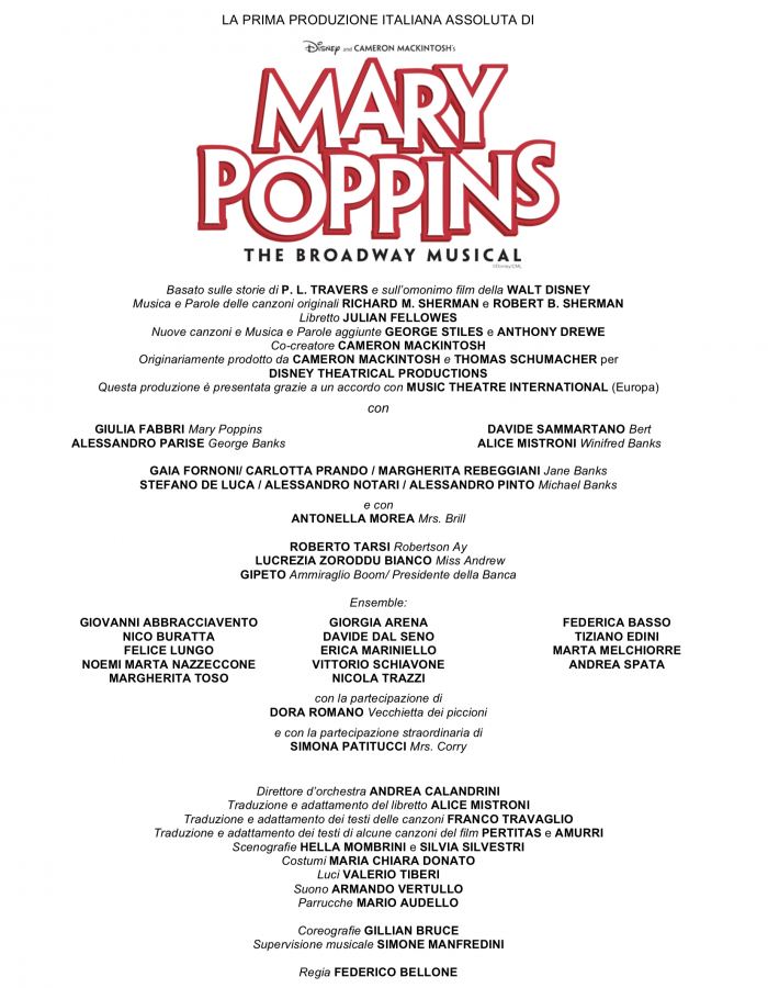 cast Mary Poppins completo